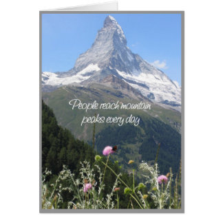 You can climb your mountain - encouragement card