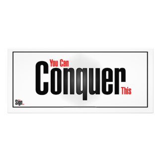 You can conquer this rack card