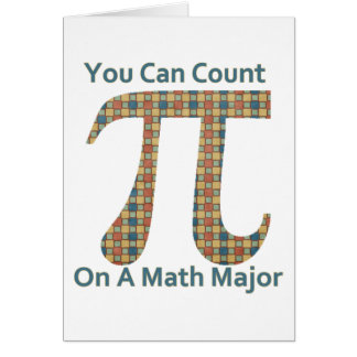 You Can Count on A Math Major Card
