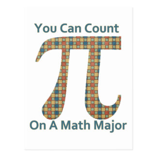 You Can Count on A Math Major Postcard