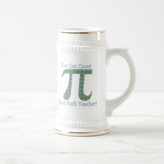 You Can Count on A Math Teacher Retro Plaid Beer Stein