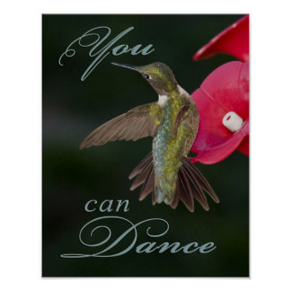 You Can Dance Hummingbird Poster