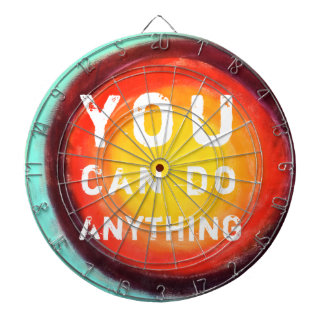 You Can Do Anything Motivational Dartboard