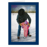 You Can Do It! Artwork, Cowboy: Winter Scene Greeting Card