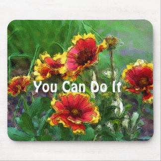 You Can Do It Daisies Motivational Mousepad