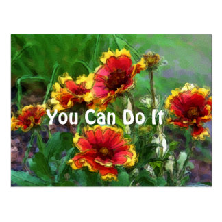 You Can Do It Daisies Motivational Postcard