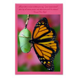 You Can Do It Monarch Butterfly Poster