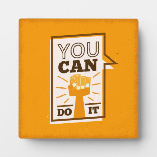 You Can Do It positive motivational african art Plaque