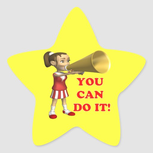 you can do it star sticker