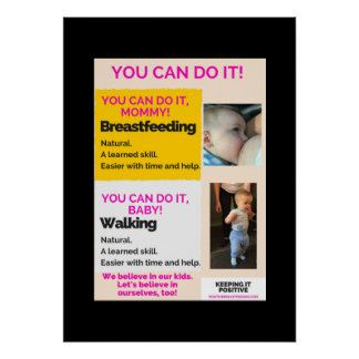 You Can Do It! USA Positive Breastfeeding Poster