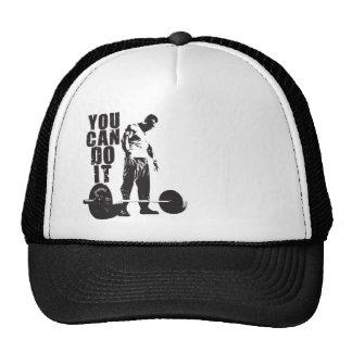 YOU CAN DO IT. Weight Lifting Workout Motivational Trucker Hat