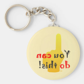 You Can Do This Motivational Backward Message Keychain