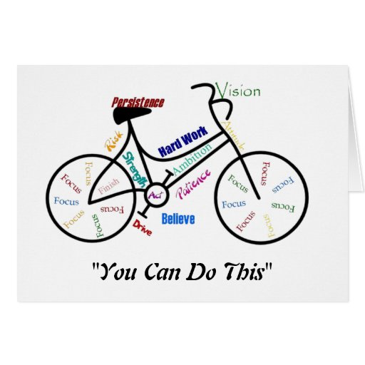 You can do This Motivational Bike, Bicycle Cycling Cards