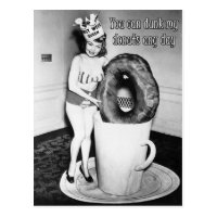You Can Dunk My Donuts - Postcard