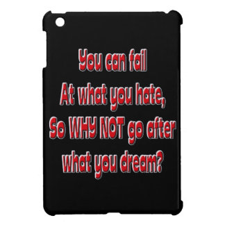 You can fail at what you hate, so why not go after iPad mini cases