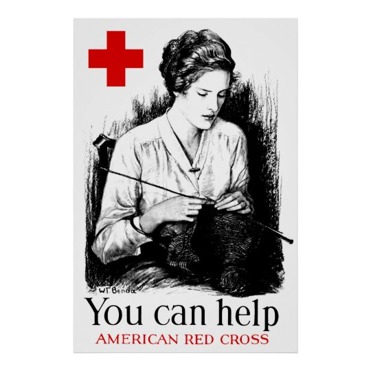 You Can Help American Red Cross Poster