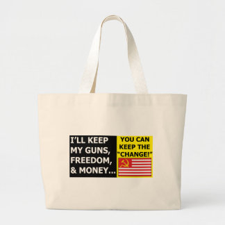 you can keep the change canvas bag