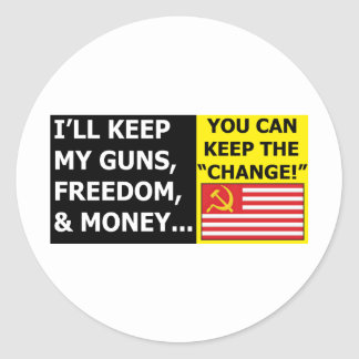 you can keep the change classic round sticker