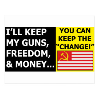 you can keep the change postcard