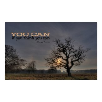 You Can Motivational Poster Print print