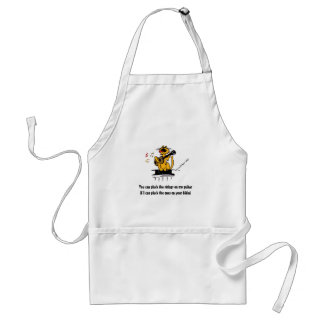 You can pluck the strings on my guitar if I can Adult Apron