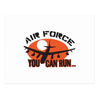 You Can Run Airforce Postcard