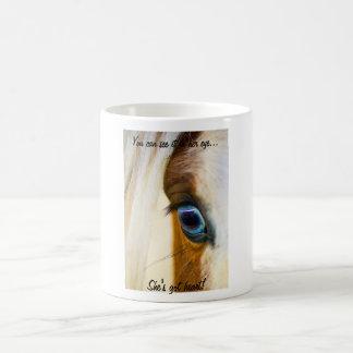 You can see it in her eye... coffee mug