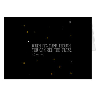You can see the stars Emerson quote Card
