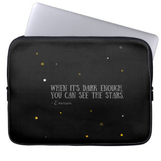 You can see the stars Emerson quote Laptop Sleeve