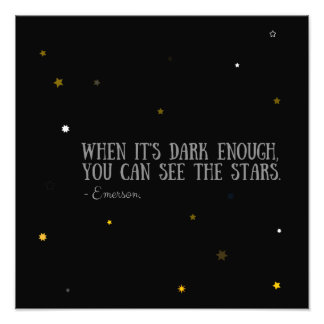 You can see the stars Emerson quote Photo Print