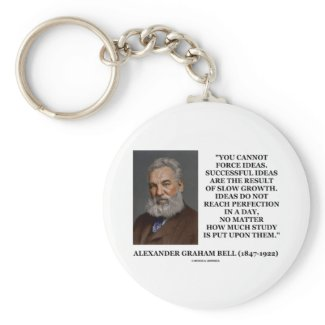 You Cannot Force Ideas Are Result Of Slow Growth Key Chain