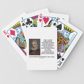 You Cannot Force Ideas Slow Growth Bell Quote Bicycle Playing Cards