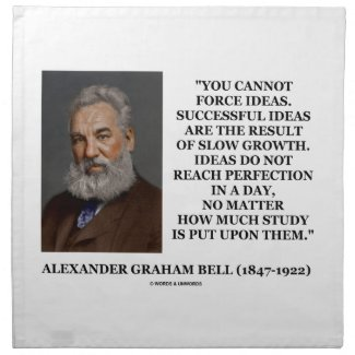 You Cannot Force Ideas Slow Growth Bell Quote Cloth Napkin