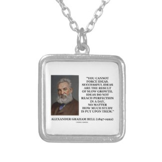 You Cannot Force Ideas Slow Growth Bell Quote Necklace