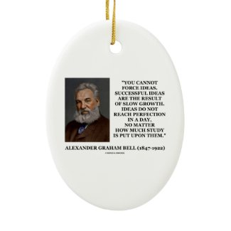 You Cannot Force Ideas Slow Growth Bell Quote Christmas Ornaments