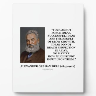 You Cannot Force Ideas Slow Growth Bell Quote Display Plaques