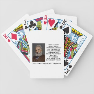 You Cannot Force Ideas Slow Growth Bell Quote Card Decks