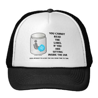You Cannot Read The Label Sitting Inside Jar Humor Trucker Hat