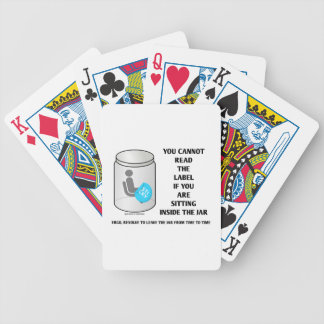 You Cannot Read The Label Sitting Inside Jar Humor Playing Cards