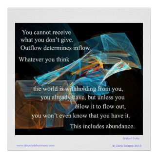 You cannot receive what you don't give. poster