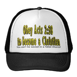 You can't be saved in a false church hat