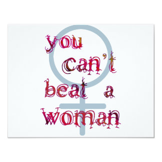 You Can't Beat a Woman Card