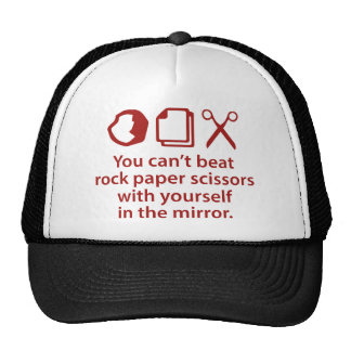 You Can't Beat Rock Paper Scissors With Yourself Trucker Hat