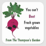 You Can't Beet Fresh Vegetables Small Sticker