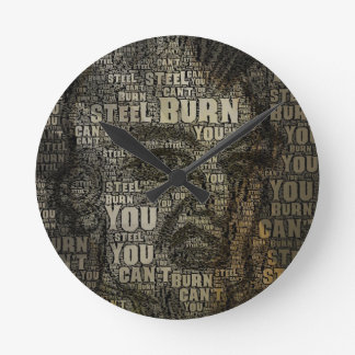 You can't burn steel wallclock