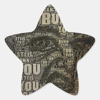 You can't burn steel star sticker