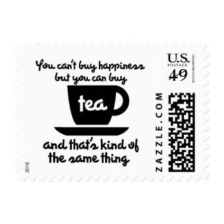 You can't buy happiness but you can buy tea postage
