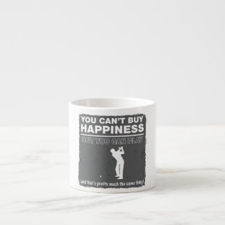 You Can't Buy Happiness Play Golf Espresso Cup