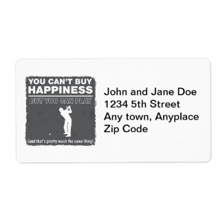 You Can't Buy Happiness Play Golf Personalized Shipping Labels