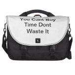 You Cant Buy Time Dont Waste It Commuter Bag